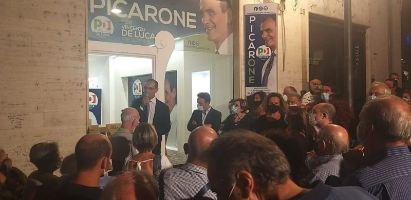 Franco Picarone inaugura comitato di Salerno